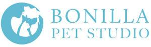 bonilla pet studio logo white non png